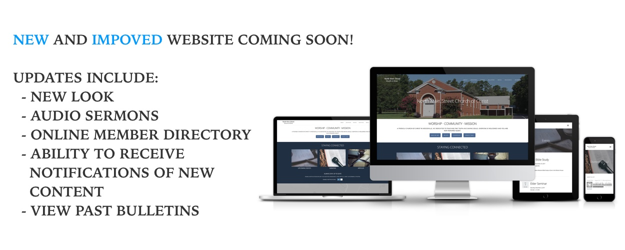 New And Improved Website Coming Soon!